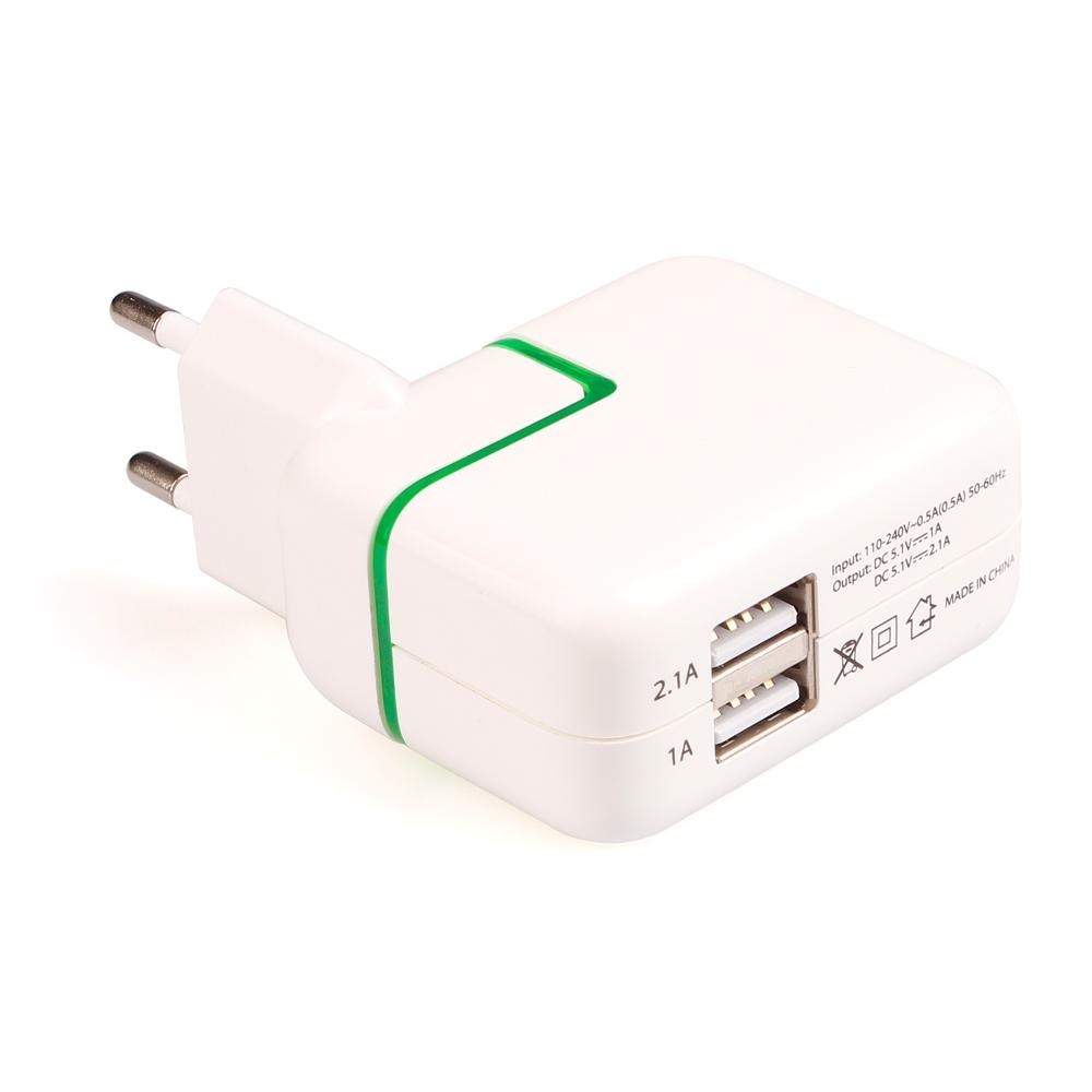 Сетевое зарядное устройство iPad 2,4 А 2USB box