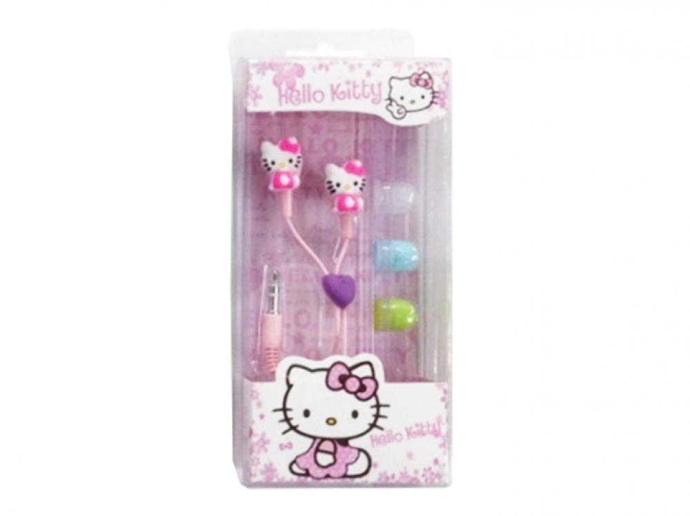 Наушники mp3 вакуум Hello Kitty Нeart