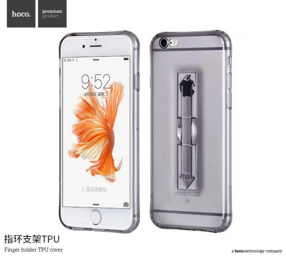 Силиконовый чехол TPU HOCO Finger holder для iPhone 6/6S