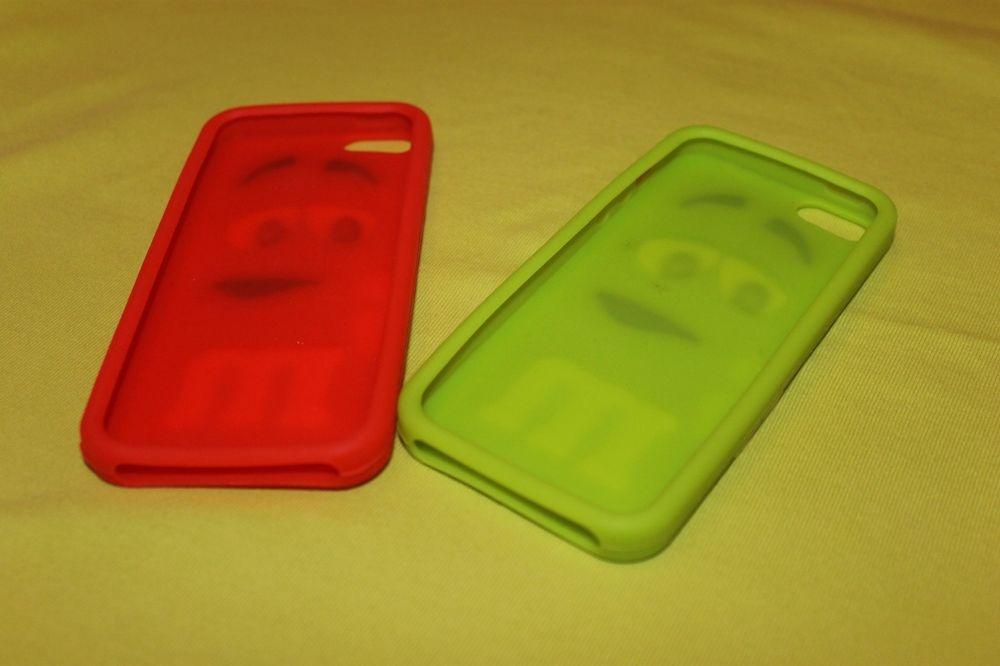 Объемный силиконовый чехол M&Ms для  iPhone 5, 5s