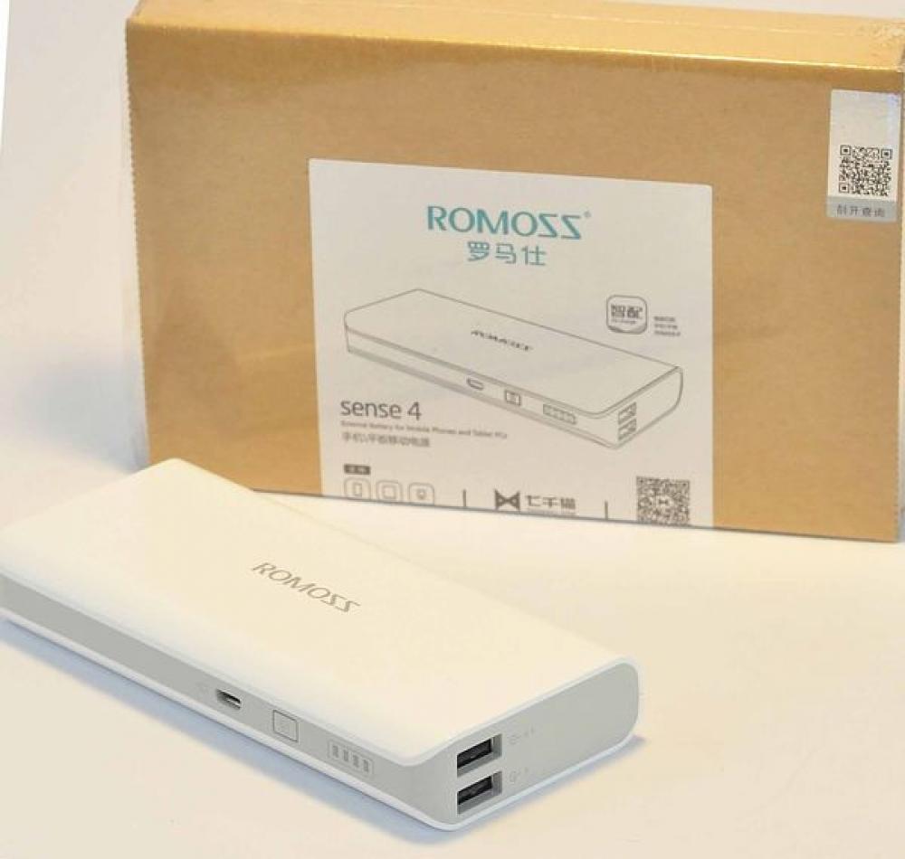 Универсальный внешний аккумулятор Romoss Sense 4 10 400 mAh