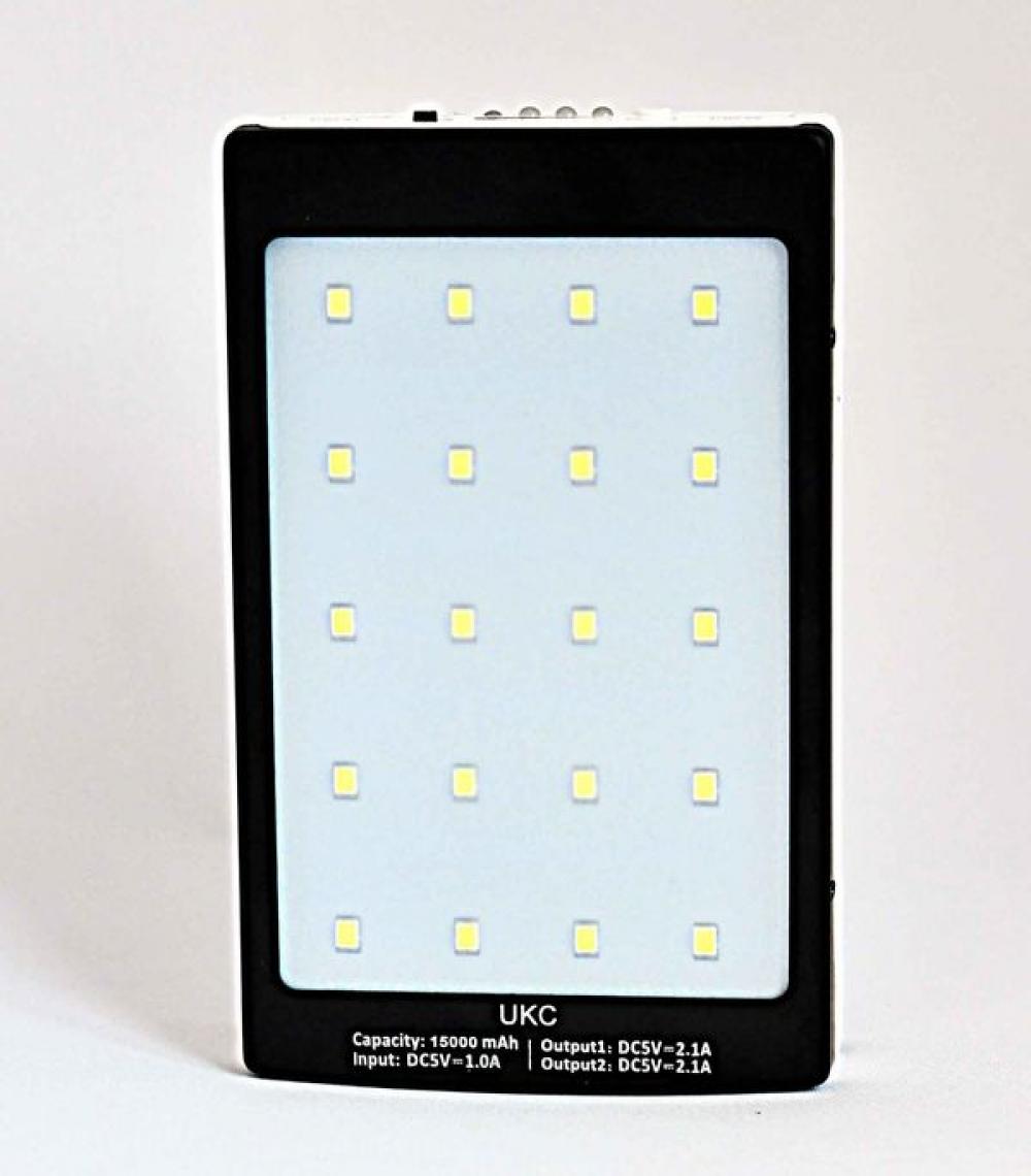 Внешний аккумулятор Solor + LED фонарик 15000 mAh