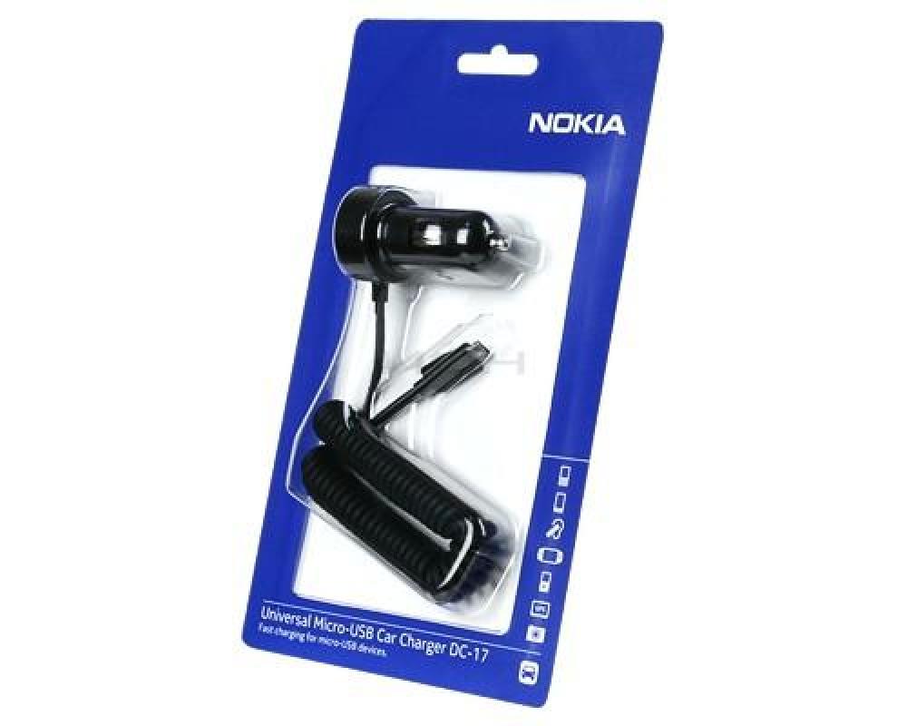 Автомобильное зарядное устройство Nokia micro USB(DC-17)