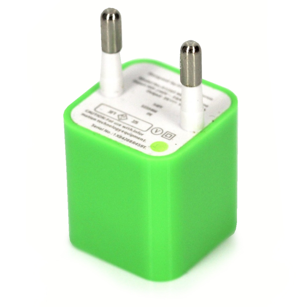 СЗУ USB iPhone(1000mA) green