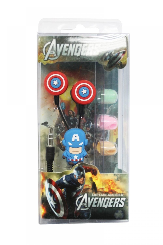 Наушники mp3 вакуум Captain America