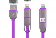 Кабель Transformer 2in1 ip6/micro violet