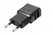 СЗУ Samsung 2USB ETA-U90(i9500) 2А без кабеля black