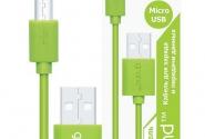 кабель Grand micro USB green