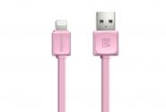 Кабель Remax Fleet Speed 008i iPhone5/6 1m pink
