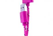 Кабель iPhone 4 в тканевой оплетке violet