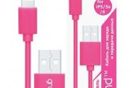 кабель Grand for iphone5/6 pink