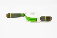 Кабель Transformer 2in1 рулетка Green